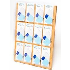 Holzwandhalter Prospekt Flyer Visitenkartenhalter