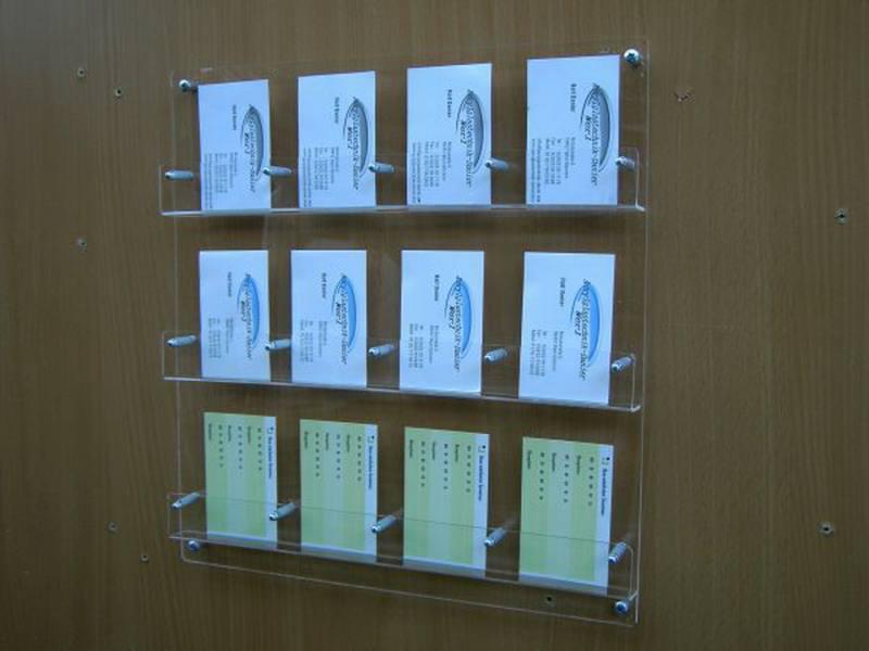 12 Fach Visitenkartenwandhalter Für Hochformat