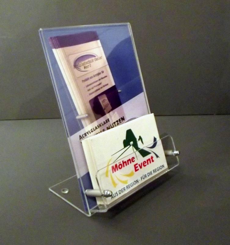 L Ständer Din A6 Mit Visitenkartenfach
