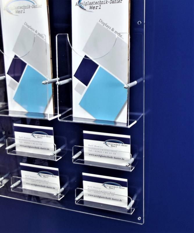 Kombi Prospekt Und Visitenkartenwandhalter 6 X Din Lang Und 6x Visitenkarten