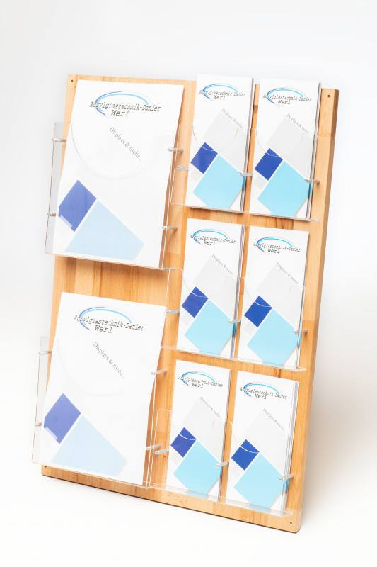6 Fach Din A4 Wandprospekthalter//Metall Prospektst/änder Flyer-St/änder Werbung Aufsteller B/üro Praxis
