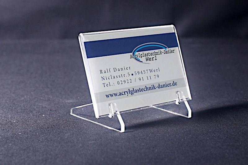Tischaufsteller Geneigt Visitenkartengröße Zerlegbar